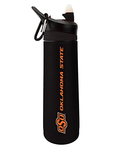 - The Fanatic Group Oklahoma State University Dual Walled Stainless Steel Sports Bottle, Design 1 - Black