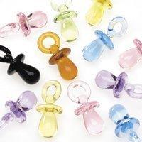 100 MULTI COLOR MINI BABY Shower PACIFIER Favors 22mm -