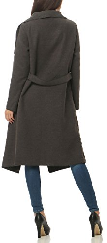 Design Gris avec Size Veste 3040 Femme Enrouler Cascade Malito Manteau Gilet Long One Bolro OFHqxq4wI