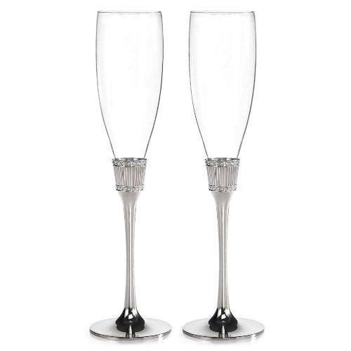 Hortense B. Hewitt Wedding Accessories Romanesque Champagne Flutes, Set of 2