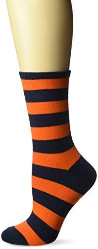 Hot Sox Women's Originals Fashion Crew Novelty Socks, College Rugby Stripe (Navy/Orange), Shoe Size: 4-10]()