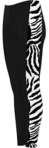 WearAll Dames Print Zijstreep Hoge Taille Leggings Dames Dierlijke Natte Look Tartan 8-18