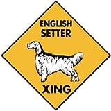 Warning English Setter Xing Aluminum Dog Sign