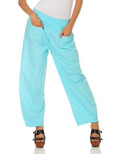 Semplici Casual Di Donna Da Pantaloni Azzurro Lino Zarmexx HYq61w1
