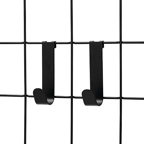 iDesign Jayce Metal Single Hook for Modular Grid Wall System, Storage Hanger for Kitchen, Bathroom, Bedroom, Office, Basement, Garage, Matte Black (Best Toilet For Basement)