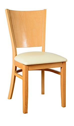 Beechwood Mountain BSD-86S-N Solid Beech Wood Side Chairs in Natural for Kitchen and dining, set of 2 ()