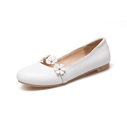 Zapatos Fondo De Flores Blanco Boca De Cabeza Tendencia De Boca Superficial 1dea8d
