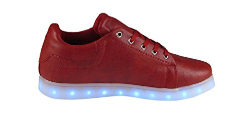 "Low Sneaker ""LED-Lighting"" - rot"
