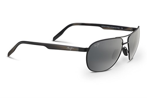 Maui Jim Castles Polarized Sunglasses Matte Black / Neutral Grey One - Jim Aviator Women Maui