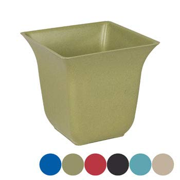 DollarItemDirect Planter Bamboo Fiber Square with Fluted Top 5.91 x 5.71 inches h Biodegr, Case of 36 (Planter Square Fluted)