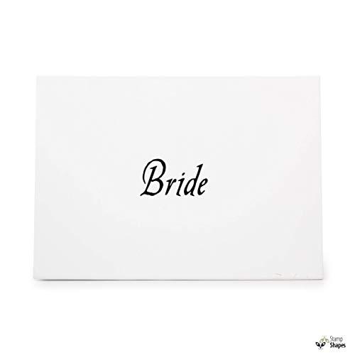 Bride Word, Rubber Stamp Shape Great for Scrapbooking, Crafts, Card Making, Ink Stamping Crafts, Item 1386422 (Bride Rubber Stamp)