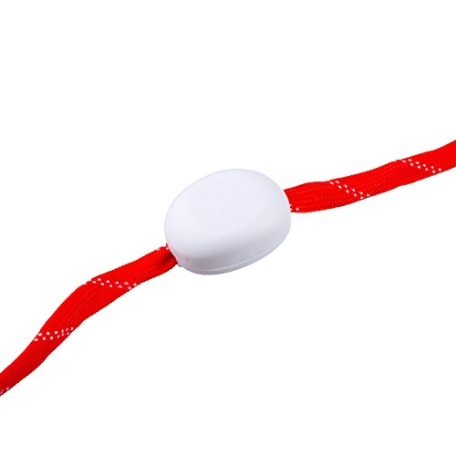 Lilware Dare To Be Visible Shoelaces Luminoso Cordones con Intermitente LED Luz. Color Blanco Rojo