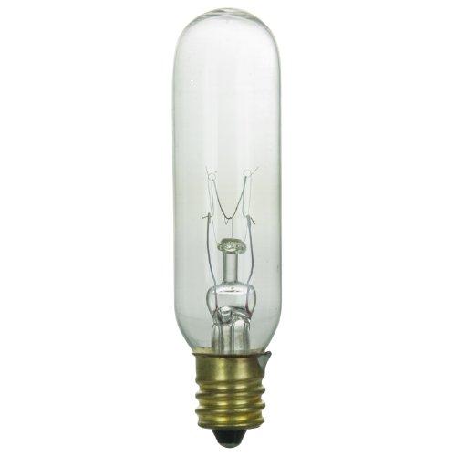 145v Candelabra - Sunlite 15T6/CL/145V Incandescent 15-Watt, Candelabra Based, T6 Tublular Bulb, Clear