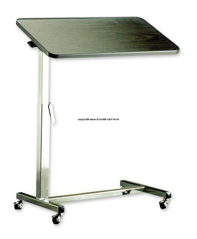 INV6418 - Tilt-Top Overbed Table, 30 x 15 x 3/4, 25-3/4 to 39