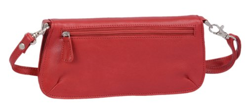 Clutch-Bag CILINIE, 23x11x4cm Rot