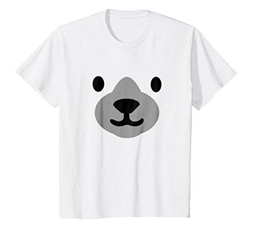 Kids Polar Bear Mask Shirt Halloween Costume 8 White -