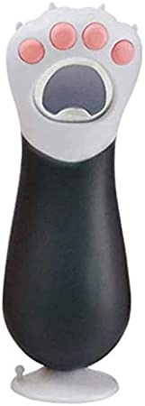 Gcroet Botella Botellas de Cerveza abridor sacacorchos con la Pata del Gato Lindo del sacacorchos de Bolsillo de la Botella de Cristal Cerveza Vino de Coca-Cola (Negro)