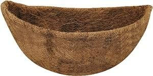 "(Rocky Mountain Goods 14"" Half Circle Coco Liner Replacement - Coconut Fiber Round Refill for Half Circle Wall Planter - Extra Thick and 100% Natural )"