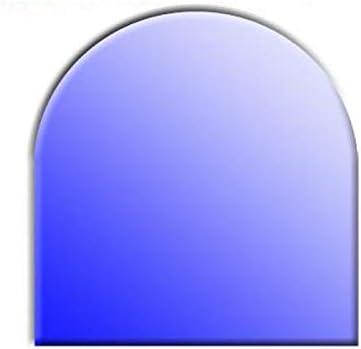 Glasbodenplatte f/ür Kamin/öfen Rundbogen 1000x1000 8mm