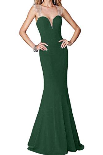 ivyd ressing Mujer favorita trager con piedras rueckenfrei funda de línea vestido de fiesta Prom vestido fijo para vestido de noche Dunkelgruen