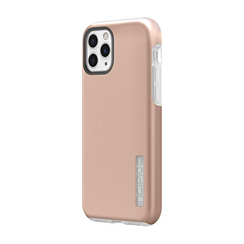 Incipio DualPro Dual Layer Case for Apple iPhone 11 Pro with Flexible Shock-Absorbing Drop-Protection - Iridescent Rose Gold/Frost