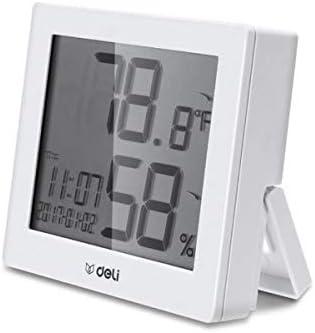QIANZICAI 温度計、デジタル温度計、屋内ドライとウェット温度計、オフィスホーム屋内と屋外のデスクトップ壁掛け温度計。 キ