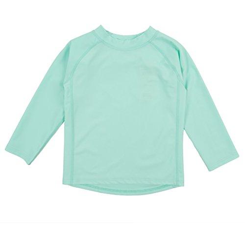 Leveret Long Sleeve Rash Guard (3 Toddler, Aqua)