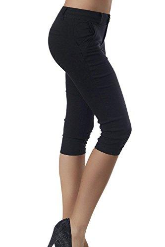 Anaisy Slim Estivi Fashion Taille Eleganti Nahen 3 Giovane Pantaloni Monocromo Capri Libero Pantaloni 4 Pantaloni Donna Tempo Pantaloni Women Pants Nero Grazioso rwxp8rq