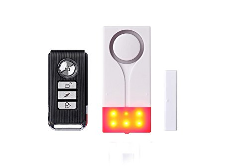 Fina Wireless Anti-theft Strobe Light &Sound Vibration Alarm Remote Control Magnet Door Window Alarm Home Security Alarm