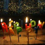 Creative Candle Wax Candle Gift Craft Craftwork with HAPPY BIRTHDAY Letter Shape for Festival