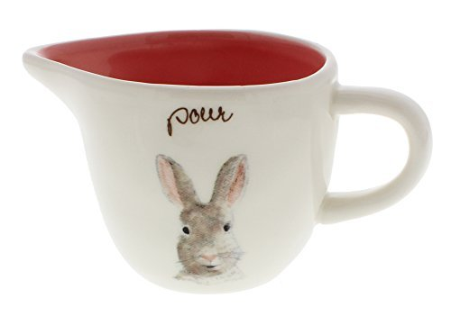 Rae Dunn Magenta Easter Bunny POUR Creamer Pink Interior