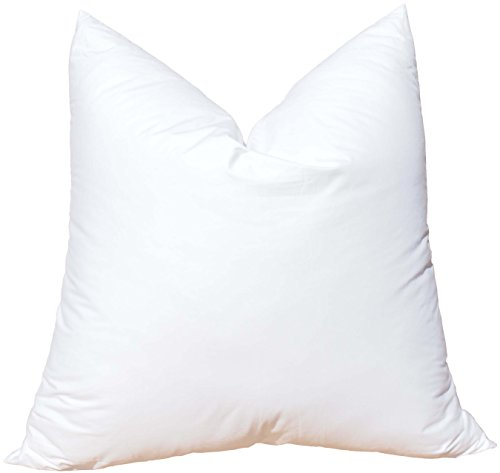 - Featherlite Quill Free Down Like Feather Pillow Form Insert for Sham (18 Inch by 18 Inch)