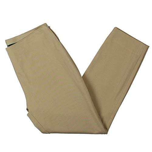 Lauren Ralph Lauren Womens Cropped Daytime Skinny Pants Tan 10 (Womens Ralph Lauren Sale)
