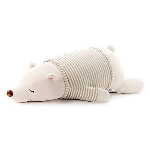 Niuniu Daddy Stuffed Animal 18 in Polar Bear Plush Toy Pillow for Kids Cute Kawaii Adorable Cuddly Plushie Hugging/Body Pillow Birthday Gift for Baby/Boys/Girls/Toddler