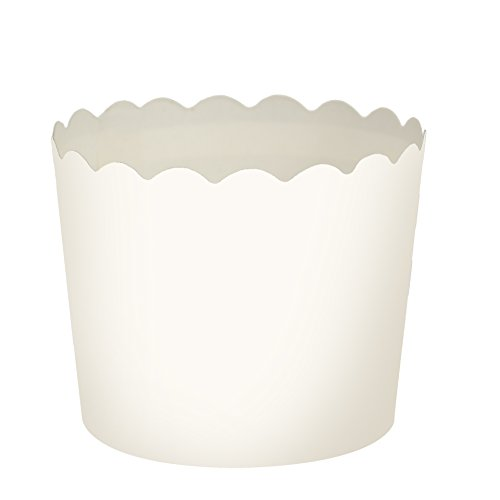 Blue Sky 1266 16 Count Scalloped Cupcake Baking Cups, Large, White