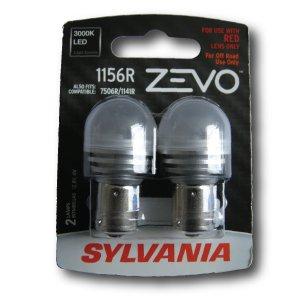 Sylvania 1156r rojo Zevo LED bombillas (par)