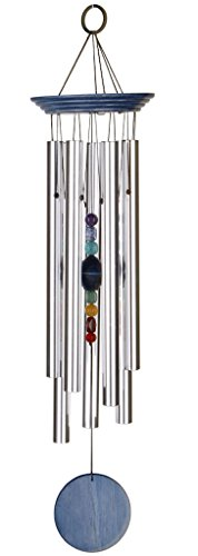 Woodstock Large Chakra Seven Stones Wind Chime, Eastern Energies Collection For Sale