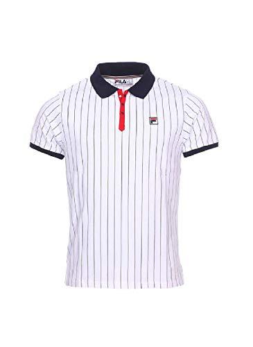 Fila Vintage BB1 Classic Stripe Polo Shirt | White/Peacoat/Red Medium White/Cred/Peacoat