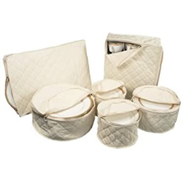 6 Piece Tabletop Polyester Dinnerware Storage Set