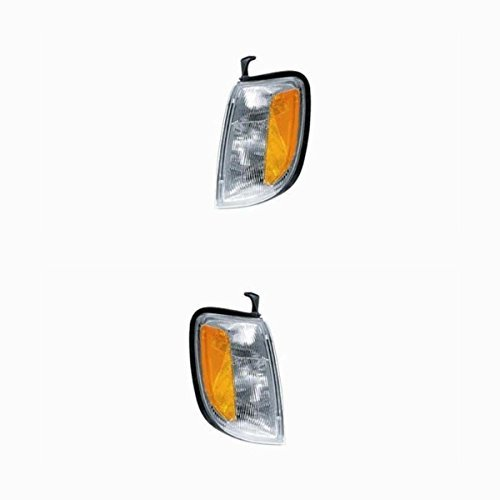 (2000-2001 Nissan Xterra & 1998-1999-2000 Frontier Pickup Truck Park Corner Light Turn Signal Marker Lamp Pair Set Right Passenger AND Left Driver Side (1998 98 1999 99 2000 00 2001 01))