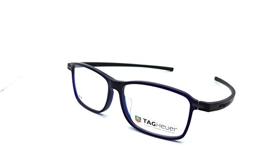 Tag Heuer Reflex 3 Rx Eyeglasses Frames Th 3956 005 57x14 Matte Blue / - Eyeglasses Tag Heuer