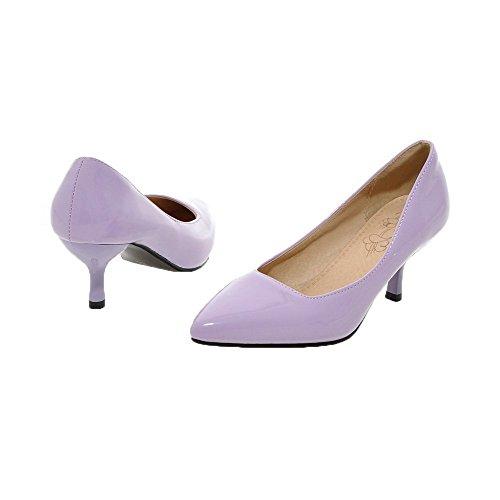 Chaussures Unie Tire À Verni Couleur Femme Légeres Aalardom Correct Talon Violet nFgRxTwq8