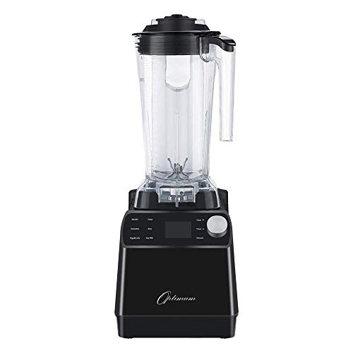 Optimum Vacuum Blender - High-Speed Countertop Kitchen Smoothie Maker, Quiet Blender, Virtually No Foam, Heavy Duty Motor 2238W, Tamper Tool, 10 year Warranty (Black) (Renewed)