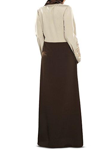 Abaya AY Stickerei Designer Burqa 349 Brown MyBatua amp; Islamische Warm Schöne Gray 7q8BBp