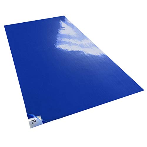 10 mats/Box, 30 Layers per Pad, 18'' x 36'', 4.5 C Blue Sticky mat, Cleanroom Tacky Mats/PVC Sticky Mats/Adhesive Pads, Used for Floor (for Home/Laboratories/Medical Offices use) by Cleanmo (Image #7)