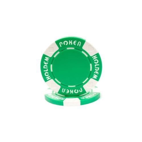 Trademark Poker Suit Holdem 50 Poker Chips, 11.5gm, Green
