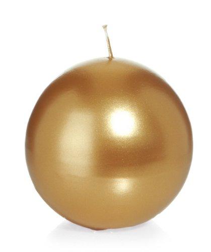 60 mm 6 Stueck Kugelkerzen Gold