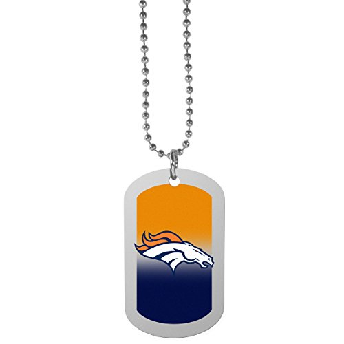 NFL Denver Broncos Team Tag Necklace, Steel, 26