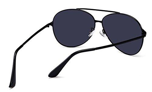 vintage inspirées Lennon style lunettes métallique retro soleil polarisées de Morceau A rond Noir Frêne en du de cercle txw08fq