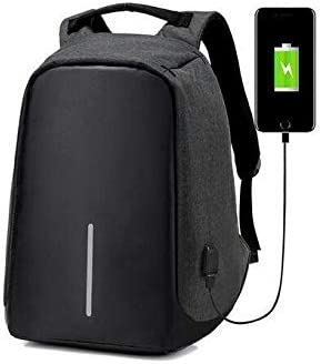 Anti-theft Unisex USB Charging Backpack Laptop Notebook Travel School Bag/&Wallet